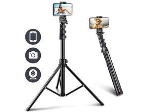 UBeesize 67 Phone Tripod Stand & Selfie Stick Tripod, All in One Professional Cell Phone Tripod, Phone Tripod Stand with Bluetooth Remote and Phone Holder, Compatible with iPhone, Android