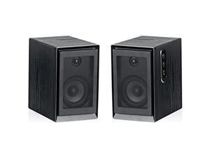 Sykik Pro, SP2551BT Powered Monitor Speakers W/High Definition (HD) Sound and Wireless Bluetooth Connection, Specially Design to Perform with Todays Turntable Systems. (Pair) Sp2551Btbt