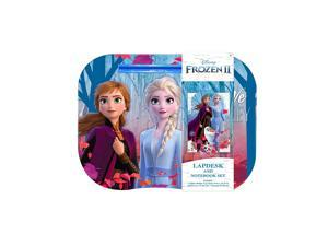 Disney Frozen 2 Girls Lap Desk with Tablet Holder, Pillow and Frozen Notebook