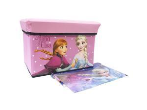 Disney Frozen Pink Stationery Set Box Organizer with Beautiful Pen and Folder