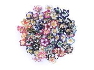 All In One Polymer Clay Plumeria Flower Beads Hawaiian Foam Frangipani Flower for Wedding Party 20mm (100pcs)