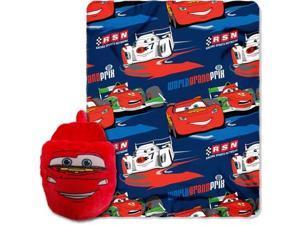 "Disney Cars 2 Throw 40"" x 50"" Blanket Plus Foot Warmer Slipper Set ~ Pixar"