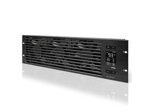 "AC Infinity CLOUDPLATE T9-N, Rack Mount Fan Panel 3U, Intake Airflow, for cooling AV, Home Theater, Network 19"" Racks"