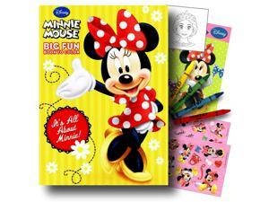 Minnie Mouse Coloring Book Pack with Stickers, Crayons and Coloring Activity Book Bundled with 1 Separately Licensed GWW Coloring Fun Reward Sticker