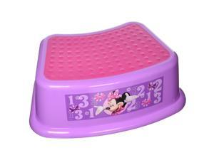 "Disney Minnie Mouse ""Bowtique"" Step Stool, Pink andPurple"
