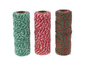 Cosmos Cotton Bakers Twine Cording, 3 Roll Assorted Colors