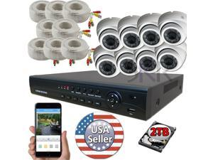 Sikker 8 Channel 1080P DVR Recorder Security Camera System with 2TB hard drive