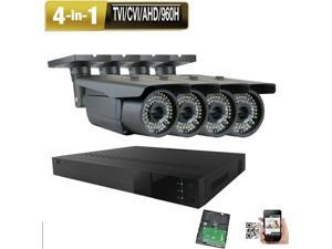 4CH 6MP DVR 2.6MP 4-in-1 72IR TVI 960H Security Camera System All-in-one 4u8