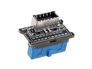 MZHOU Computer Mainboard USB 3.0 Front 19PIN to 3.1 Type-C Front Panel Header Type-E Adapter 20 to 19 Pin Expansion Card