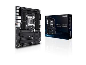 ASUS Pro WS C422-ACE, Intel Xeon W Workstation Processors, ATX Workstation Motherboard with 14 Power Stages, Triple M.2, Dual U.2, Dual Intel LAN, DDR4 ECC Memory Support, and ASUS Control Center Ex