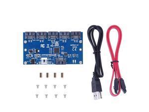Yosoo- Adapter Card SATA 1 to 5 Port Converter (SATA Port Multiplier) Riser Card Hub