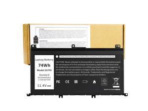 74Wh New Laptop Battery for Dell Inspiron 15 7000 7559 7567 7566 7759 7557 5577 INS15PD Series P57F P57F003 P65F P65F001 0GFJ6 71JF4 0GFJ6 071JF4 357F9