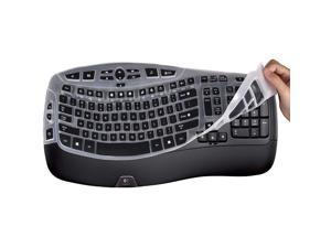 Lapogy Keyboard Cover Skin for Logitech MK550,Logitech K350 MK550 MK570 Accessories, Ultra Thin Silicone Keyboard Protector Skin,Black