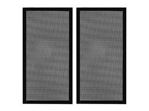 280mm x 140mm Computer Case Fan Dust Filter PC Mesh Filter Cover Grills with Magnetic Frame, Black Color (2 Pcs)