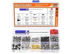 HELIFOUNER 360 Pieces Computer Standoffs Screws Assortment Kit with a Screwdriver