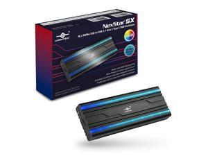 Vantec M.2 NVMe SSD to USB 3.1 Gen 2 Type C RGB Enclosure (NST-207C3-RGB)