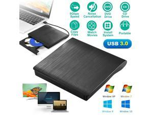 Slim External USB 3.0 DVD RW CD Writer Drive Burner For Laptop PC Reader Player