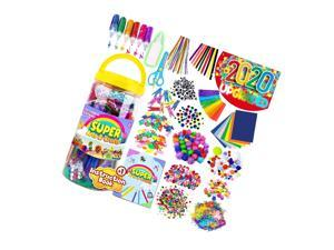 Arts And Crafts Supplies For Kids - Assorted Craft Art Supply Kit For Toddlers Age 4 5 6 7 8 9 - All In One D.I.Y. Crafting Materials Set For School Projects Toddler Activities