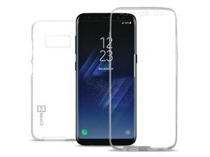 CoverON for Samsung Galaxy S8 Clear Case Front and Back TPU Flex Rubber Cover