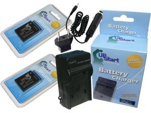 1010mAh 7.2V Lithium-Ion Replacement for Panasonic DMW-BLD10PP Battery and Charger Compatible with Panasonic DMW-BLD10 Digital Camera Batteries and Chargers
