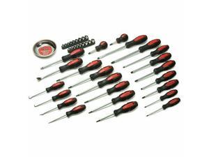 Titan 17242 42 Piece Screwdriver Set With Mini Parts Tray