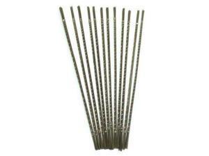 """New 10pc Mini Micro High Speed Steel Twist Wire Gauge Drill Bit #53 0.054/"""" Shank"""