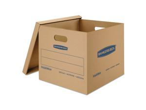 Fellowes  Classic Medium Moving Boxes 18lx15wx14h Kraft/blue 8/ctn 7717201 NEW