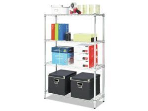 2//Box ULine H-1508-POST 63″ Shelf Post Set for Chrome Wire Shelving