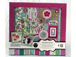 Colorbok BAREFOOT 12x12 DIY Scrapbook Photo Album Kit,16 sheets,6 chipboard acce