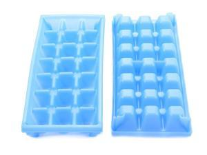 Big Ice Cube Tray Whiskey Scotch Plastic Square Full Glass Cubes 2PK in Purple
