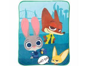 Disney/Pixar Zootopia Bunny Ears Plush Super Soft Micro Plush Throw Blanket