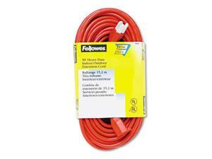 Indoor/Outdoor Heavy-Duty 3-Prong Plug Extension Cord, 1-Outlet, 50ft, Orange