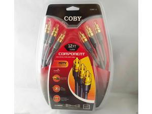 Coby 12 feet High Resolution Component RCA HD-TV Video Cable Gold Plated COMP-12
