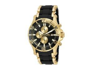 NEW Invicta 17080 Mens Sea Spider Collection Chronograph Black Dial Dress Watch