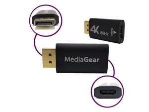 MediaGear DisplayPort (Male) to HDMI (Female) Adapter / Converter compatible with a Multi or Dual Display Docking Station, Hub, Projector, and 4K Smart TV, Monitor, OLED Screen and more.