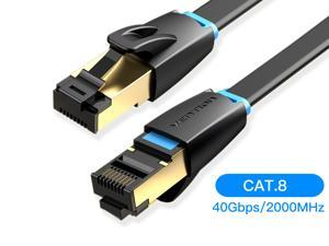 Vention CAT8 Ethernet Cable,High Speed 40Gbps 2000MHz SFTP Internet Network LAN Wire Cables with Gold Plated RJ45 Connector for Router, Modem, PC, Switches, Hub, Laptop