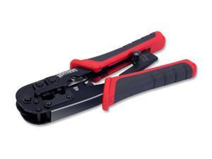 Vention Crimping Tool, All-in-One Ratcheting Modular Data Cable Crimper / Wire Stripper / Wire Cutter, for RJ45/RJ12/RJ11, CAT5e, CAT6 Wire Crimp Tool