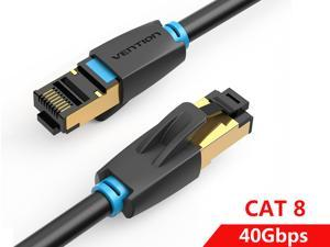 Vention Cat8 Ethernet Cable, High Speed SFTP LAN Network Cable 40Gbps, 2000Mhz Patch Cord with Gold Plated RJ45 Connector - in Wall, Outdoor, Weatherproof Rated for Router, Modem, Gaming