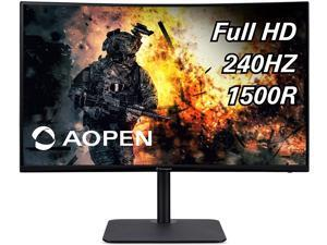 """AOPEN 32HC5QR Zbmiiphx 31.5"""" 1500R Curved Full HD (1920 x 1080) VA Zero-Frame Gaming Monitor with Adaptive-Sync Technology, 240Hz, 1ms TVR, (Display Port & 2 x HDMI 1.4 Ports), Black"""