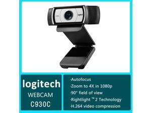 New Logitech Business Webcam, C930c Full HD 1080p/30fps Video Calling, Light Correction, Autofocus, 4X Zoom, Privacy Shade, Works with Skype Business, WebEx, Lync, Cisco, PC/Mac/Laptop/Macbook/Chrome