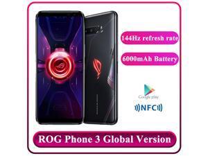 Original Global Rom Vesion ASUS ROG Phone 3 5G Snapdragon 865+ Game Phone RAM12GB/16GB ROM 128GB/256GB/512GB Dual Sim (GSM Only | No CDMA) Unlocked - Black