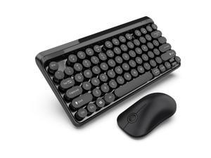 AUTENS 2.4G Wireless Keyboard and Mouse Combo Punk Keycap 77 Keys with USB Receiver for PC, Desktop, Computer, Laptop, Windows XP/Vista/7/8/10