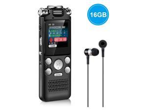 AUTENS Digital Voice Recorder 16GB with Variable Playback Speed, Sound Recorder, Ultra-Sensitive Microphones, MP3 Player, Noise Reduction Audio Recording for Lectures, Meetings, Interview