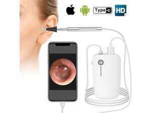 Otoscope for iPhone, 4.3mm HD Inspection Camera, Ear Microscope, 6 Adjustable LED Lights with Ear Wax Removal Tools, Works with for iPhone, iPad & Android