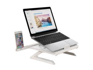 """OImaster Laptop Stand Adjustable Computer Stand Patented, Multi-Angle Stand Portable Foldable Laptop Riser Phone Stand Notebook Holder Compatible for MacBook, Air, Pro, Surface 9-15.6""""Laptop White"""