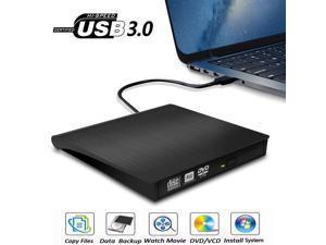 AUTENS External CD DVD Drive USB 3.0 Portable Fits for DVD-R DVD-RW DVD+R DVD+RW DVD-ROM Super Speed Data Transfer Black