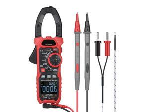 AC/DC Digital Clamp Meter 1000A True RMS Auto Range Professional Multimeter, 6000 Counts, Inrush, VFD, LOZ Mode Measures Current Voltage Temperature Capacitance Resistance Diodes Continuity Duty-Cycle