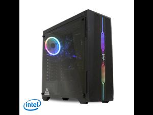 ViprTech Gaming PC Computer Desktop - Intel i5-650, Radeon R7 250 2GB, 8GB RAM, 500GB HDD, RGB, WiFi, Windows 10 Pro