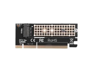 M.2 NVM SSD to PCI E 3.0 16x M Key Port NVMe Adapter HDD Extender Expansion Card Connector Extender Converter Board for M2 NVMe