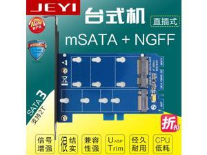 SK3 M.2 NGFF to SATA and mSATA TO SATA3 adapter add on card dual interface two with conversion card SSD adapter card